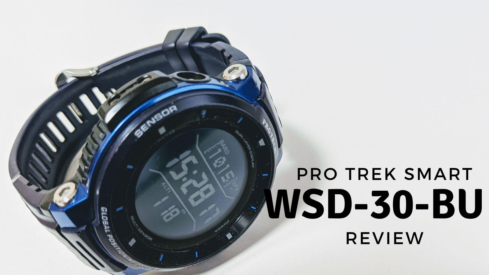 PRO TREK Smart WSD-F30のレビュー