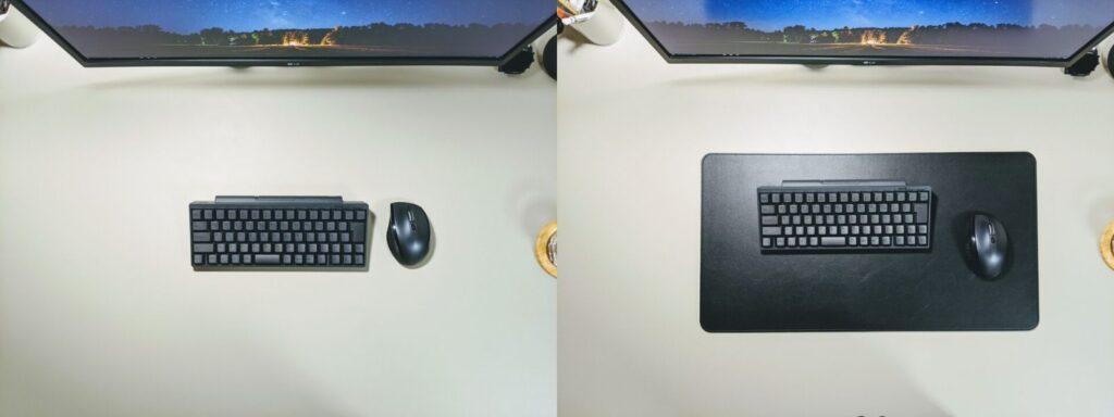 【レビュー】デスクの印象がガラッと変わる。シックなデスクマット、SatechiのPUレザーデスクマット